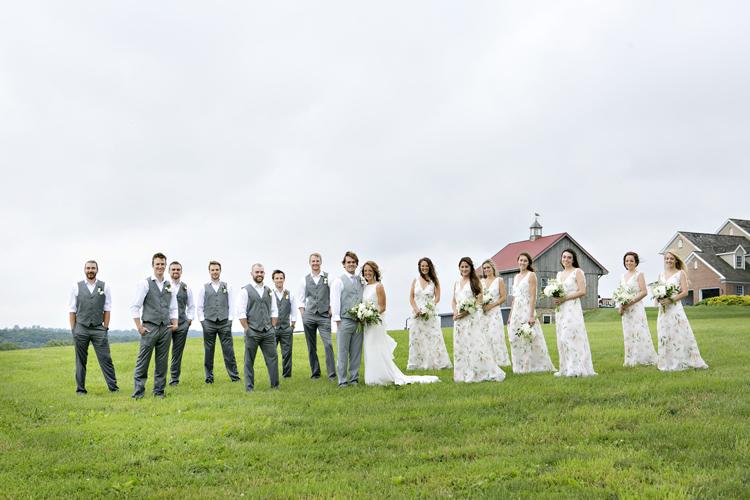 Bridal Party at Wyndridge Farm, Dallastown Pa