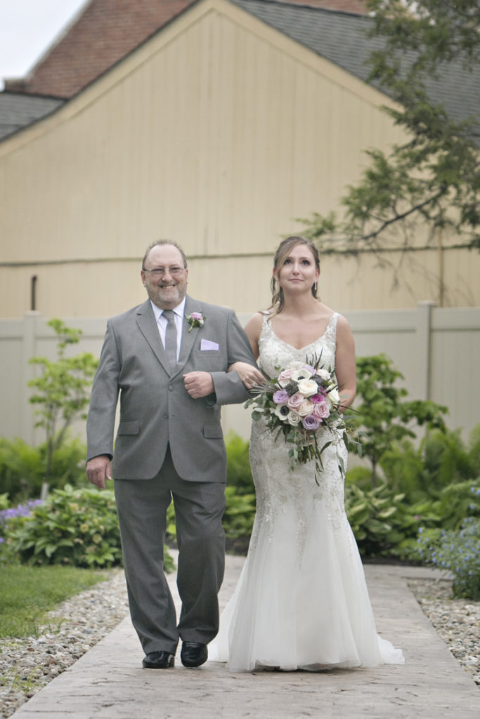 Father walking Bride down the aisle Lancaster pa
