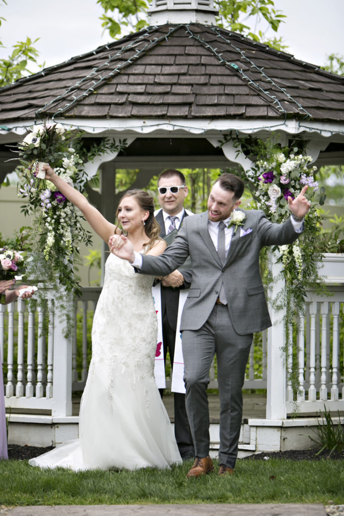 Bride and groom announced for the first time