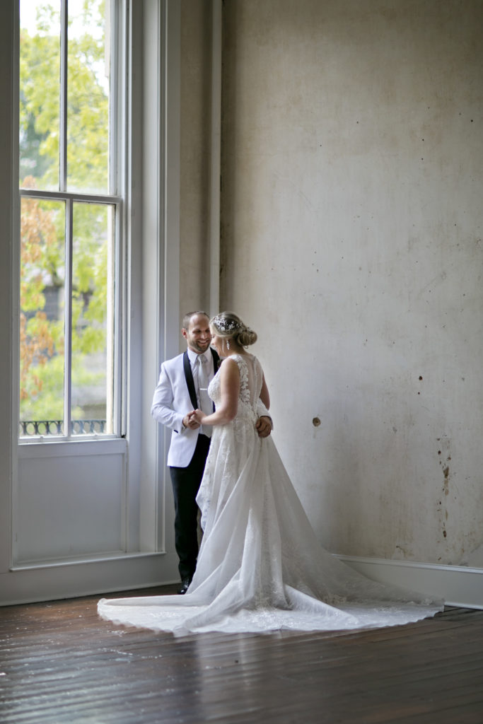 Bride and grom at Excelsior Lancaster